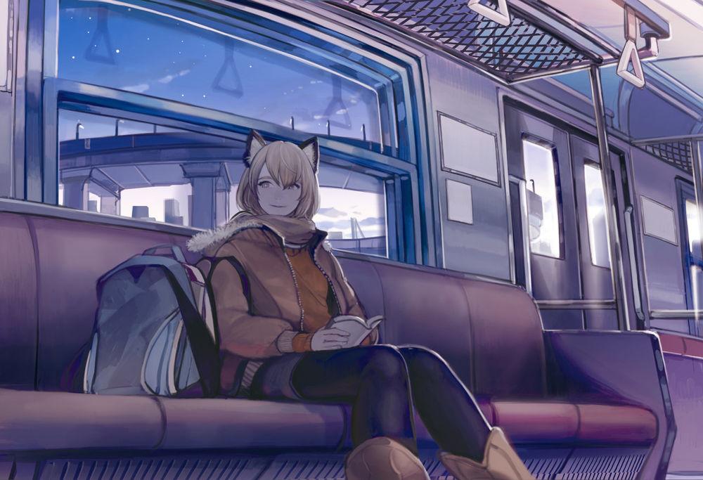 Девки спящие ночью в поезде