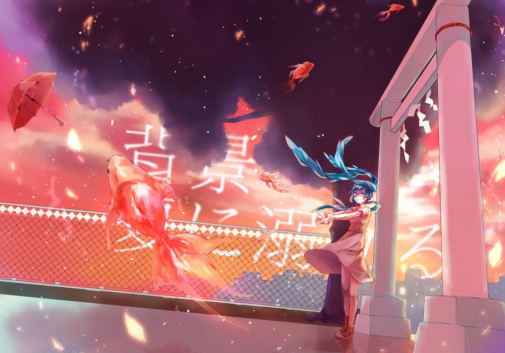 Обои для рабочего стола Vocaloid Hatsune Miku / Вокалоид Хатсуне Мику