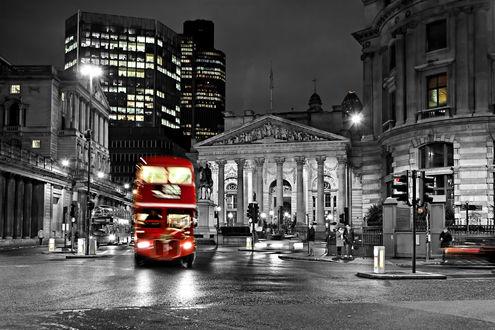 Обои Красный автобус Лондоне, Великобритания / London, Great Britain