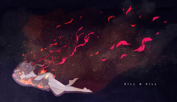 Обои Рюко Матои / Ryuuko Matoi из аниме Убей или умри / Kill la Kill, автор Kurosaka hal