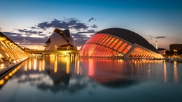 ���� ������������� �������� ����� �������� � ���� / The City of Arts and Sciences, ��������, ������� / Valencia, Spain  1600x900, ����, ����