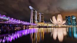 ���� ������ ��� �� ����� ������ ��� / Marina Bay � ��������� / Singapore  1600x900, ����, ����