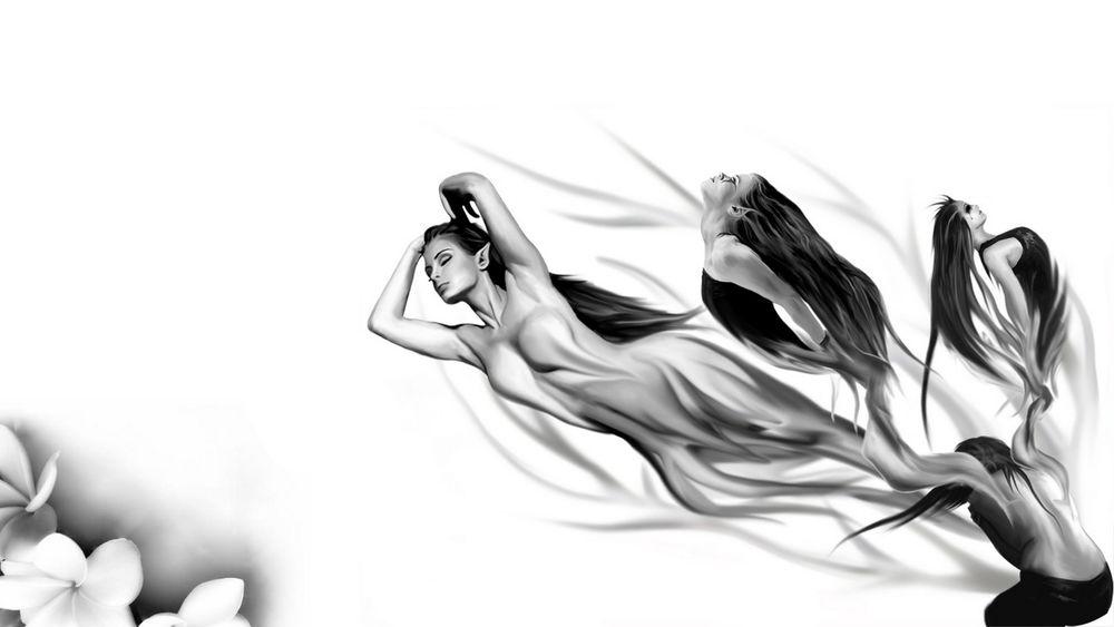 Эротика черно белые прозрачные обои фото 405-912