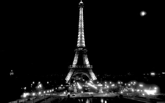 Обои Эйфелева башня, Париж, Франция / Eiffel tower, Paris, France, на фоне ночного неба