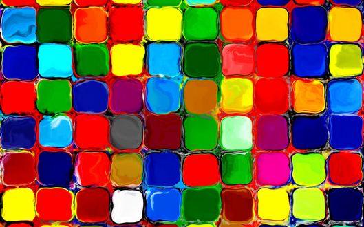 Обои Абстракция из разноцветных плиток