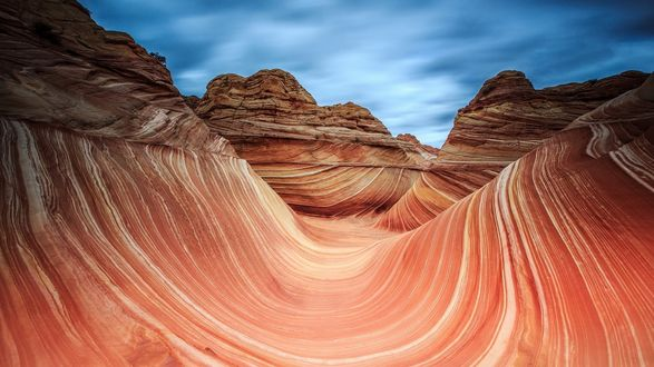 Обои Горы в Каньоне Антилопа, США / Antelope Canyon, USA
