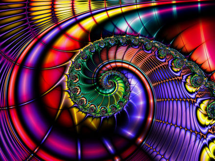 Обои Абстракция- спираль в виде ракушки