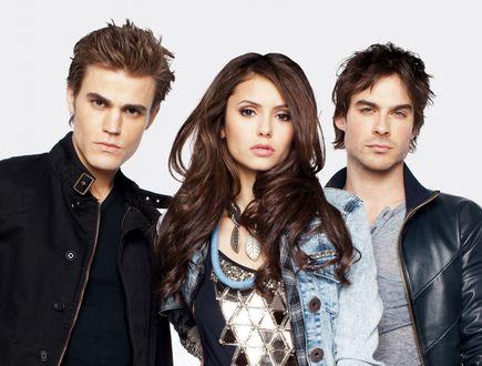 Обои Актеры из сериала Дневники вампира / The Vampire Diaries