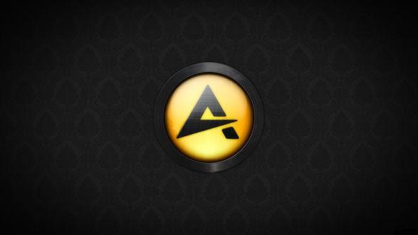 Обои Логотип AIMP — бесплатного аудиопроигрывателя с закрытым исходным кодом, написанным на Delphi