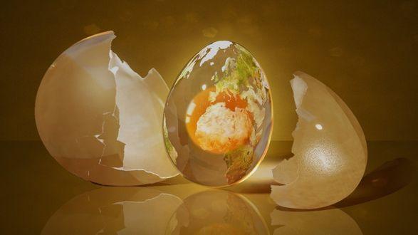 Обои Земной шар в виде яйца