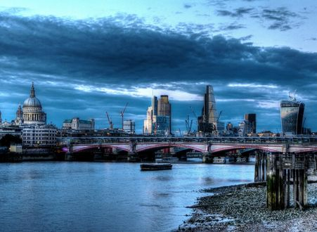 Обои Вид на вечерний Лондон, Великобритания / London, Great Britain
