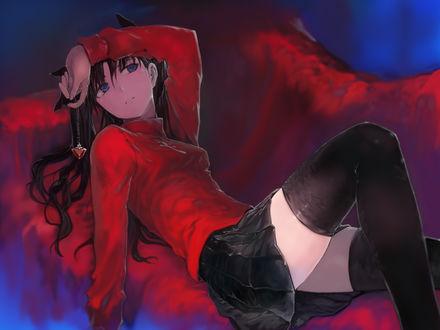 Обои Рин Тосака / Rin Tohsaka из аниме Судьба: Ночь Схватки / Fate / stay night, автор Bob