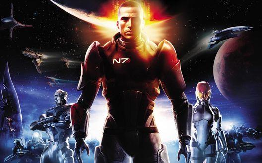 Обои Заставка из игры Mass Effect