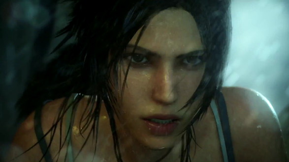 Обои Лара Крофт / Lara Croft под дождем из игры Tomb Raider:/ Расхитительница гробниц