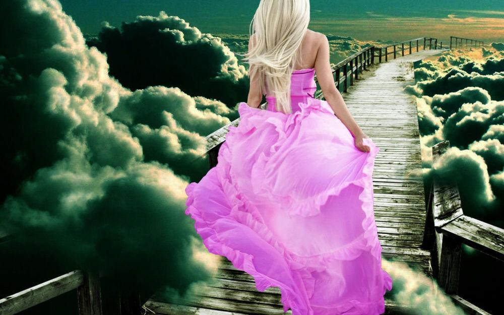 Красивые девушки в розовом платье фото 465-15