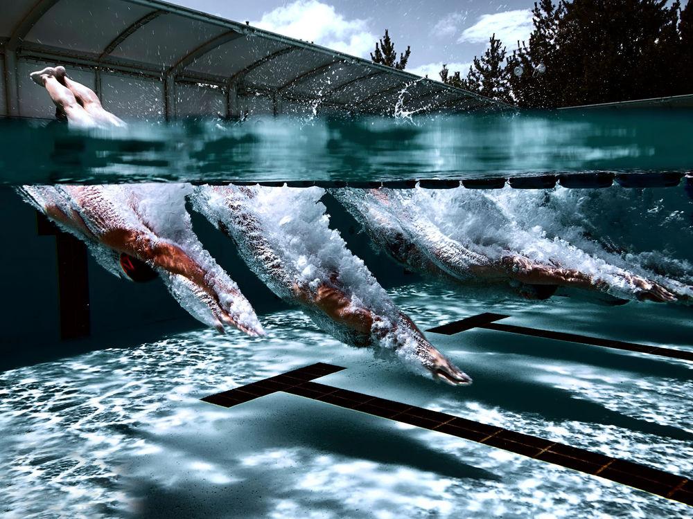 Эро фотообои под водой