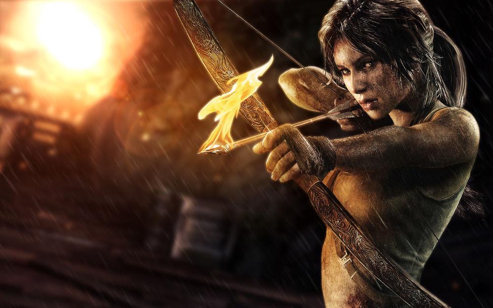 Обои для рабочего стола Лара Крофт / Lara Croft из игры Tomb Raider / Расхитительница гробниц