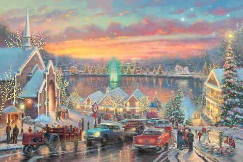 Обои Огни рождественского городка