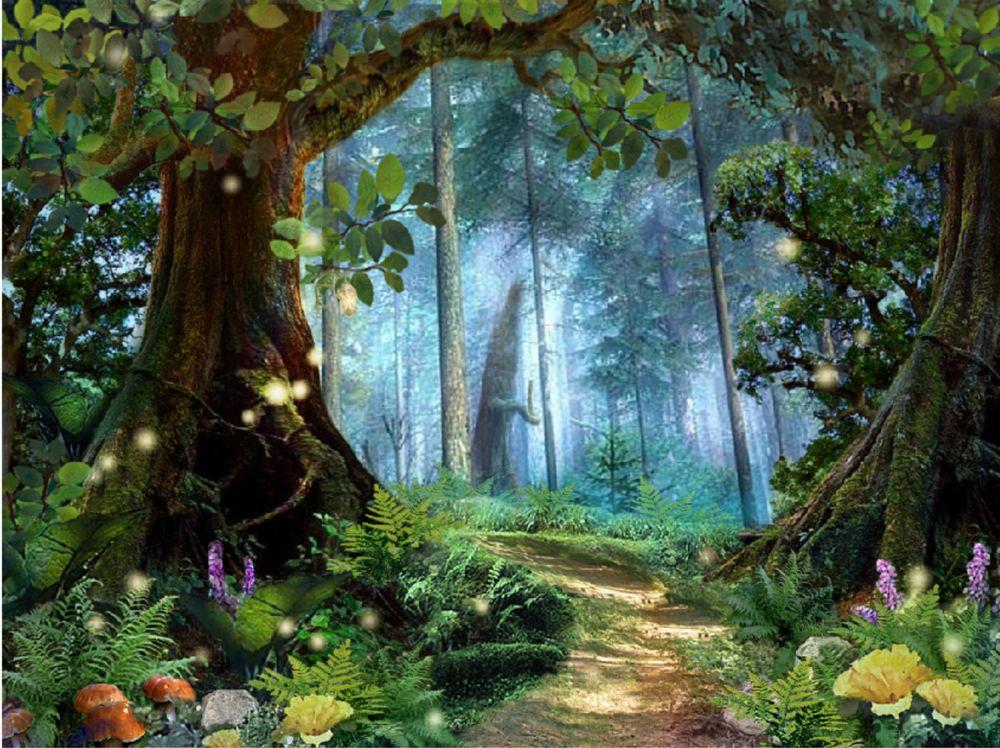 Обои девушка в лесу