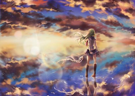 Обои Kochiya Sanae / Котия Санаэ из игры Touhou Project / Проект Восток