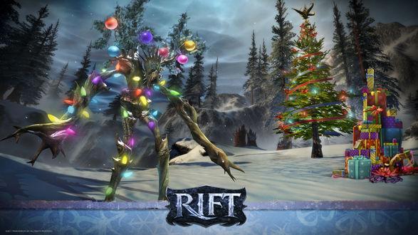 Обои RIFT - Новый год, елка, подарки