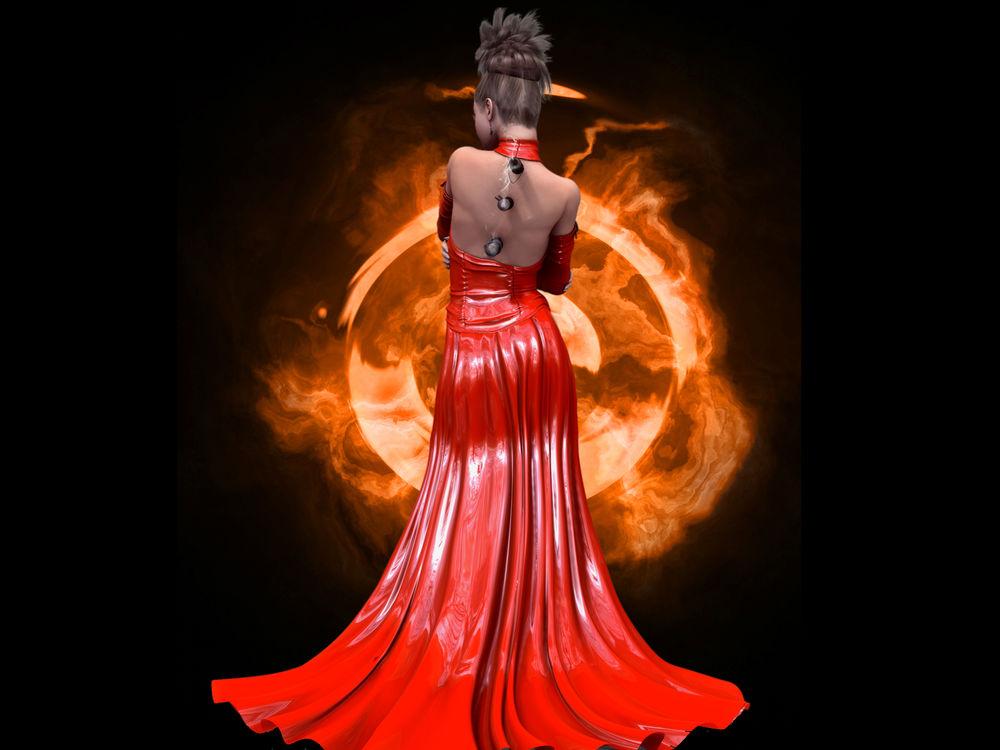 Девушка в красном длинном платье со спины фото фото 540-603
