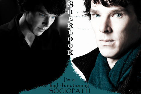 Обои Бенедикт Камбербэтч \ Benedict Cumberbatch (Sherlock im a high functioning sociopath)