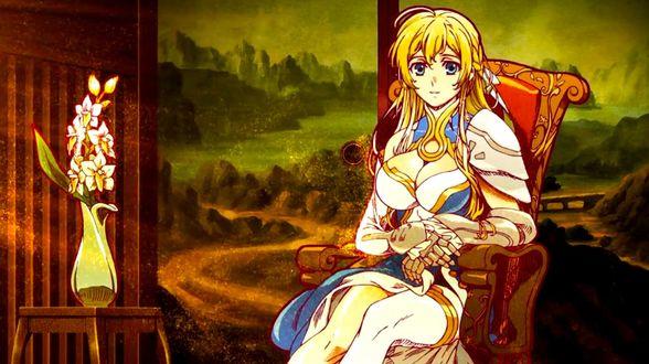 Обои Жанна д'Арк / Jeanne Kaguya dArc из аниме Нобунага - Величайший глупец / Nobunaga the Fool
