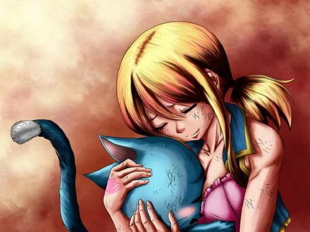 ���� ���� ��������� / Lucy Hartfiliya � ����� / Happy �� ����� ����� ��� / Fairy Tail, � ������� ��������