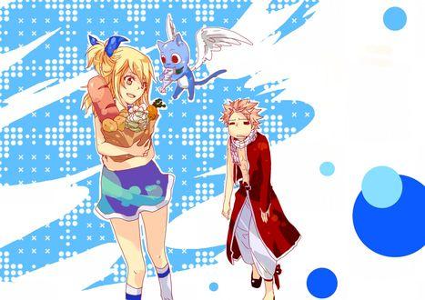 ���� ���� ������� / Natsu Dragnil, ����� / Happy � ���� ��������� / Lucy Hartfiliya �� ����� ����� ��� / Fairy Tail