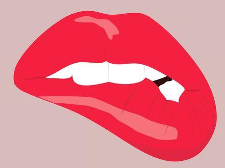 Обои Векторный рисунок губ