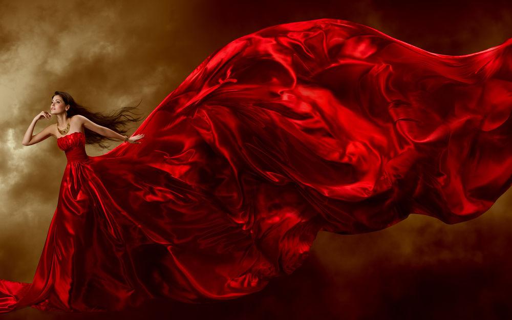 белого девушка в красном платье развитие скорость