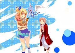 ���� ���� ������� / Natsu Dragnil, ����� / Happy � ���� ��������� / Lucy Hartfiliya �� ����� ����� ��� / Fairy Tail  �����, �������, �����