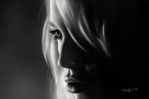 Обои Портрет девушки, by dndrew