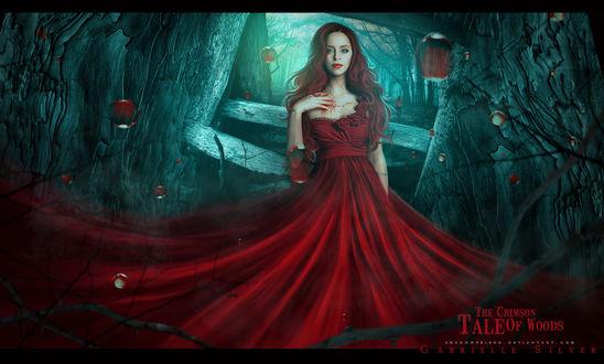 Обои Девушка в красном платье, by shadowfriend