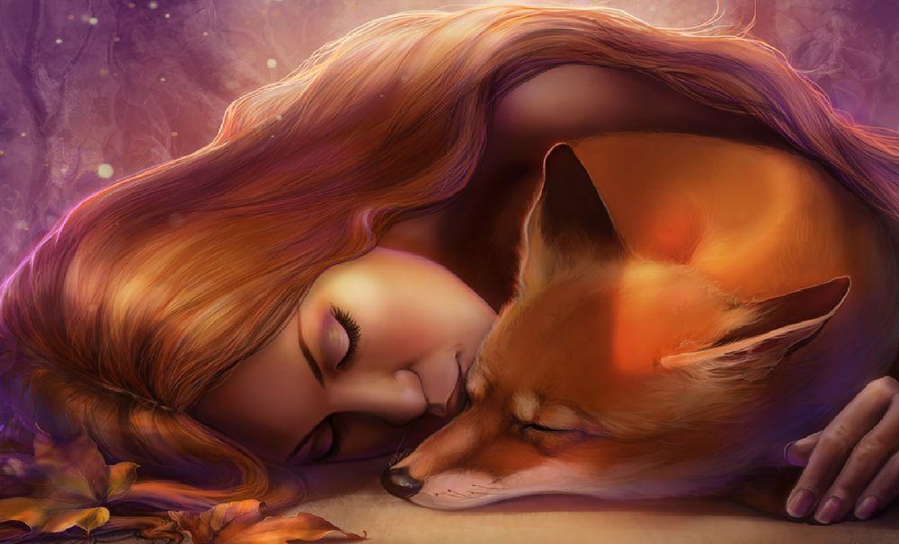 Секс с женщина лисица