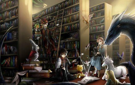 Обои Разные персонажи из книг, мультфильмов и фильмов находятся в библиотеке