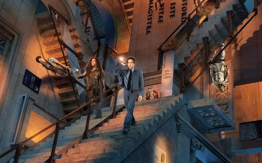 Обои Фильм Ночь в музее 3 Секрет гробницы / Night at the Museum: Secret of the Tomb, с Ben Stiller / Беном Стиллером в главной роли охранника Ларри Дэйли