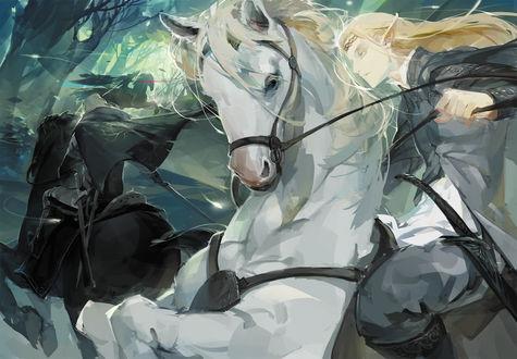 Обои Legolas / Леголас, герои повести Дж. Р. Р. Толкина «Хоббит, или Туда и обратно»