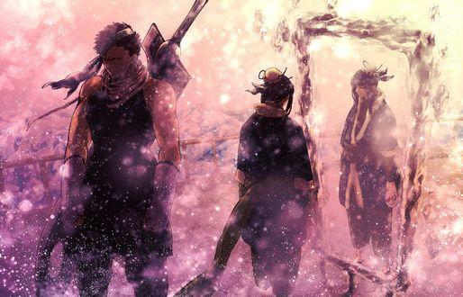 Обои Дзабудза / Zabuza и Хаку / Haku из аниме Наруто / Naruto