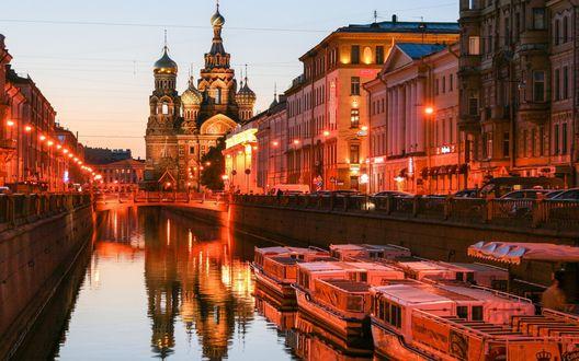 Обои Вечерний канал Санкт-Перербурга