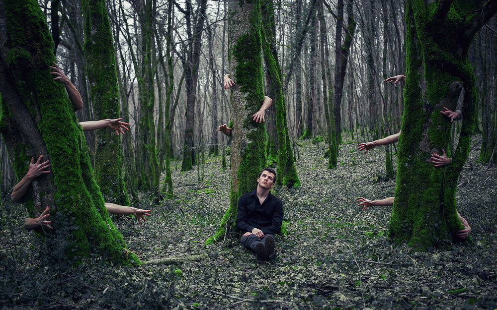 Парня в лесу фото 564-632