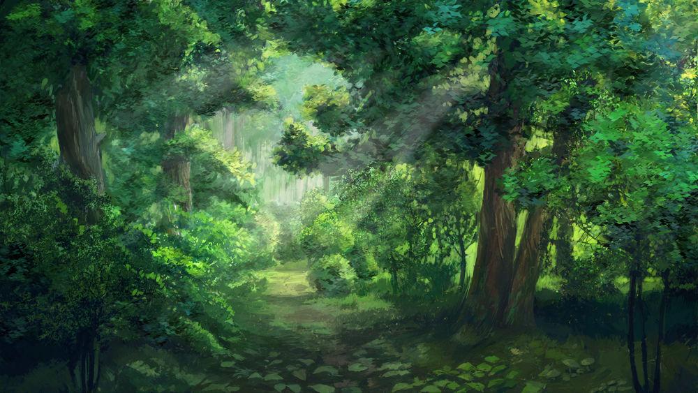 Картинки лес летом анимация рабочего стола