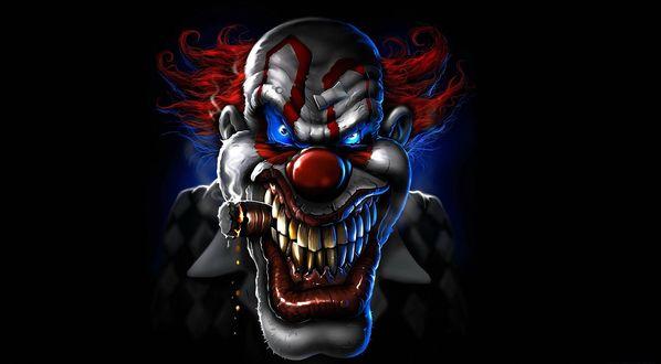 Обои Злобный, но совсем не страшный клоун