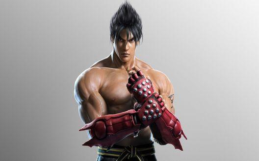 Обои Джин Kazama / Kazama Jin/ - герой и анти-герой компьютерных игр серии Tekken с атлетическим торсом, в боевых перчатках