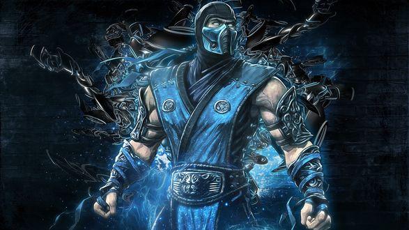 Обои Саб-Зиро из компьютерной игры Mortal Kombat Mythologies: Sub-Zero
