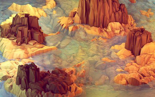 Обои Абстрактное изображение скал