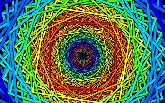 Обои Абстракция в виде разноцветных геометрических линий