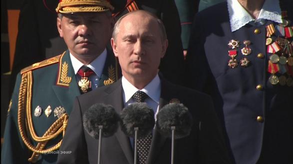 Обои Верховный Главнокомандующий Вооруженными Силами РФ В. В. Путин