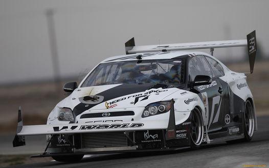 Обои Гоночный автомобиль Scion world